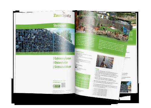 Katalog zum ausdrucken für Gabionenzäune & Steinzäune